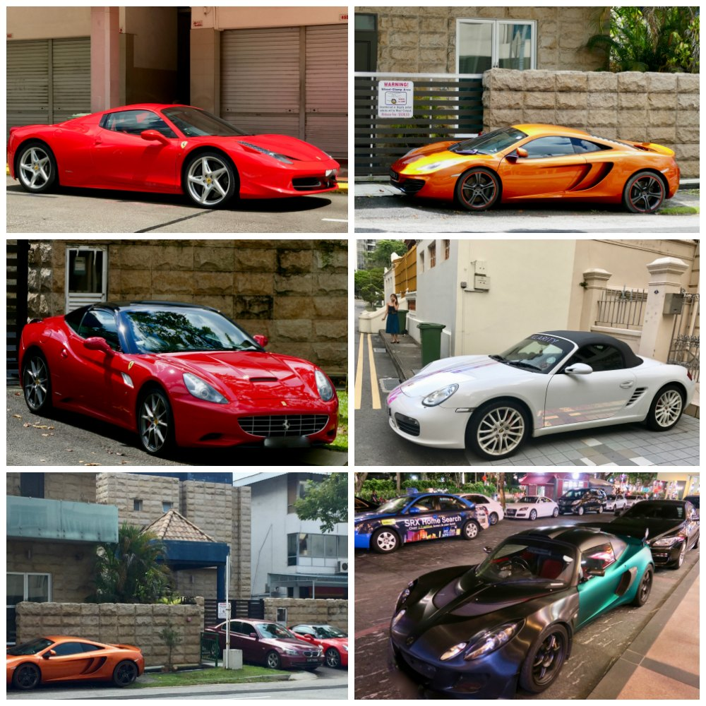 Expensive cars in Singapore | curlytraveller.com