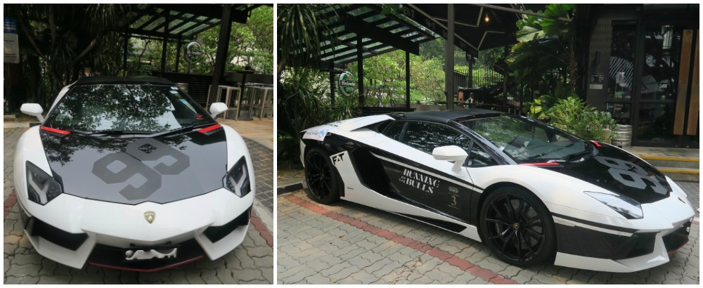 Black and white supercar in Singapore |curlytraveller.com