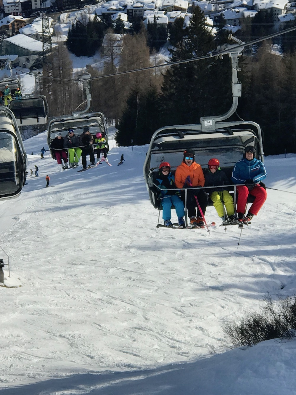 People in cable cars in St. Anton |curlytraveller.com
