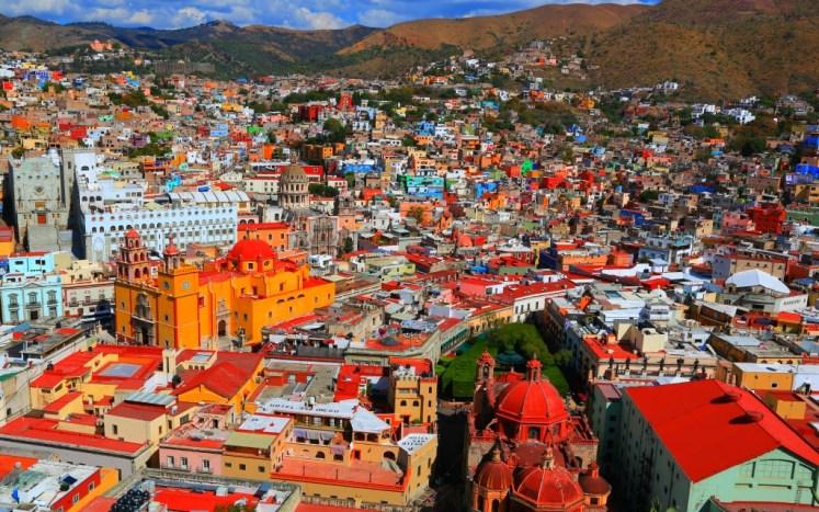 Panorama miasta Guanajuato na górze Cerro del Cubilete, której nie chciałyśmy przegapić