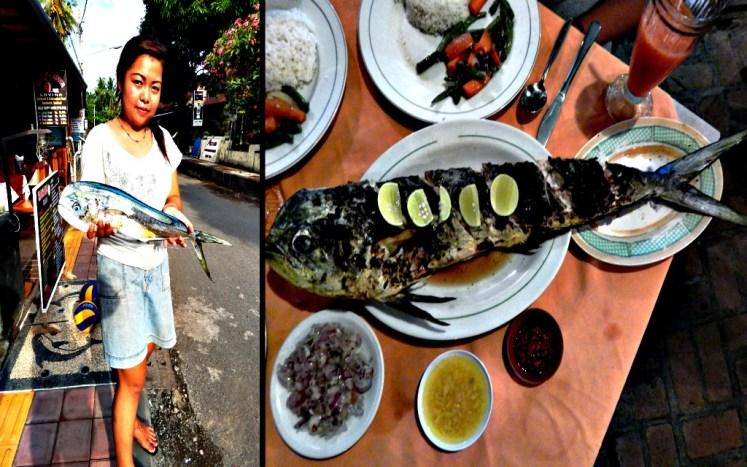 Świeża ryba na Bali oznacza, że widzicie ją złowioną i gotową na grill już po 15 minutach od złożenia zamówienia w barze