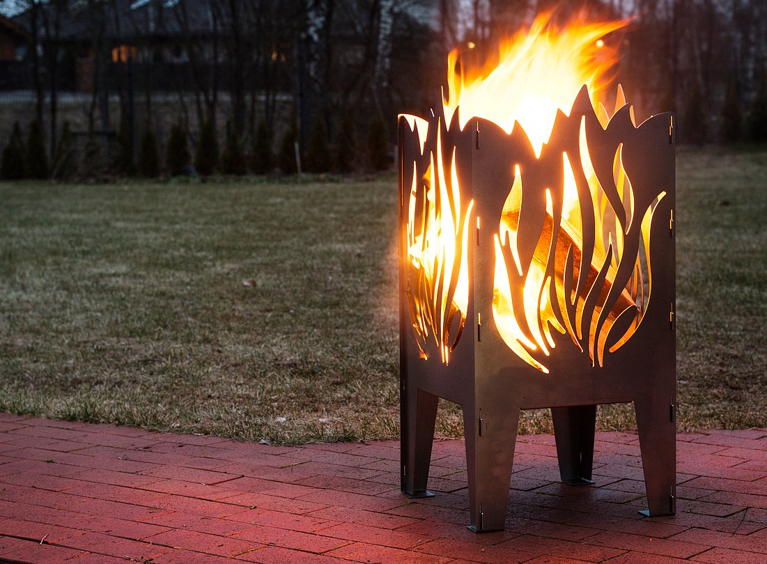 Fire Basket Fire Pit Flame Witch Or Dragon Shape Design