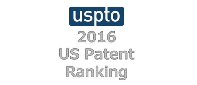 US Patent Ranking 2016