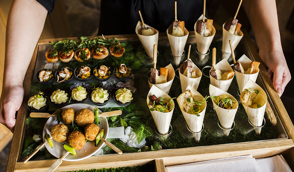 A Selection Of Exquisite Canapes Were Served To Guests