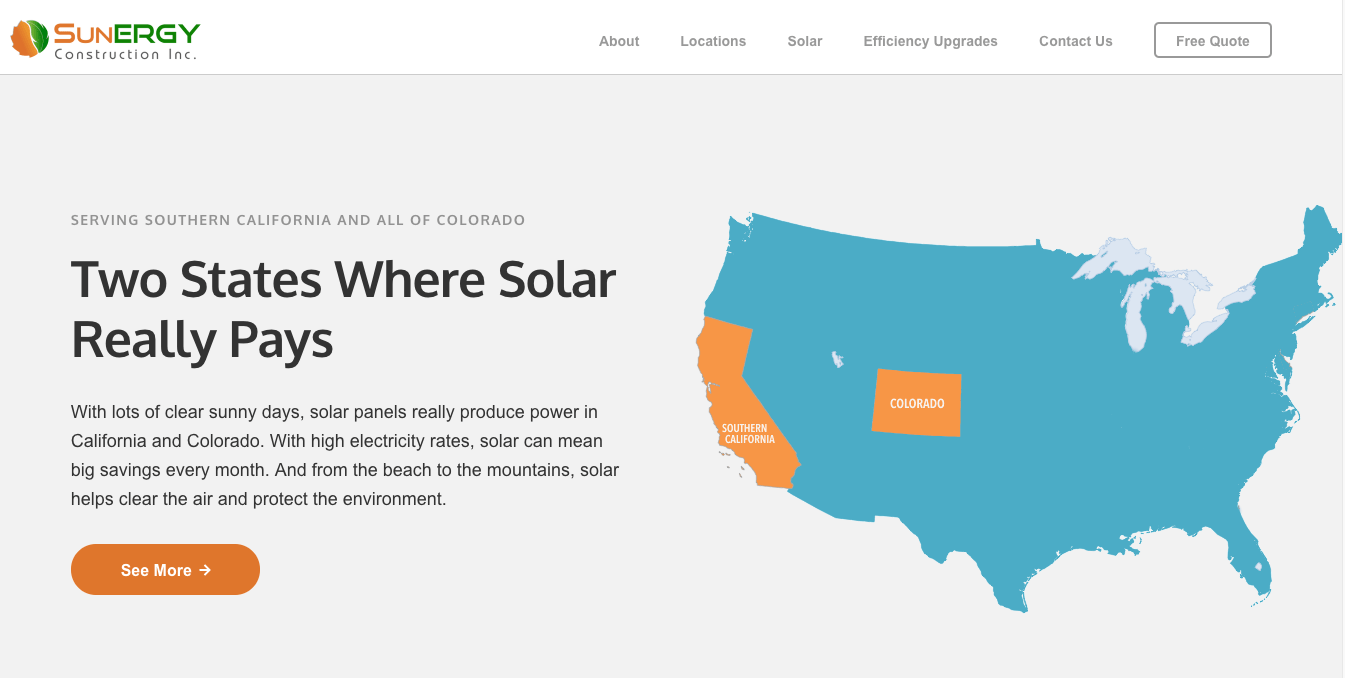SunERGY Construction website