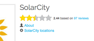 SolarCity on SolarReviews