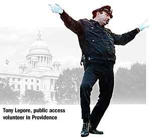 Tony Lepore, dancing cop extraordinare and public access standout.