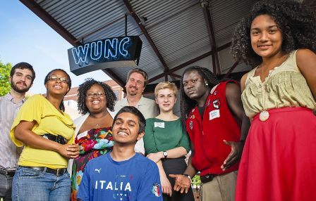 Student participants in WUNC's Summer Youth Radio Institute