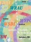Map of Eastern Shore stations carrying NPR News