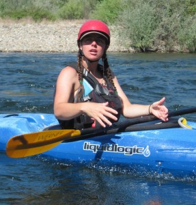 Gigi McBee whitewater kayak instruction
