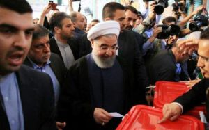 State TV declares Hassan Rouhani winner of Iranian presidential election