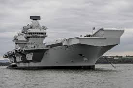 "Queen Elizabeth inaugurates new ""Best of British"" aircraft carrier"