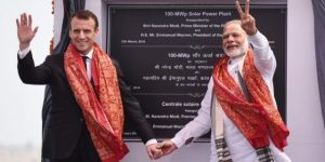 PM Modi, French President Macron Jointly Inaugurate Solar Power Plant At Mirzapur In UP