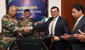 Indian Army, HDFC Bank ink MoU on defence salary package