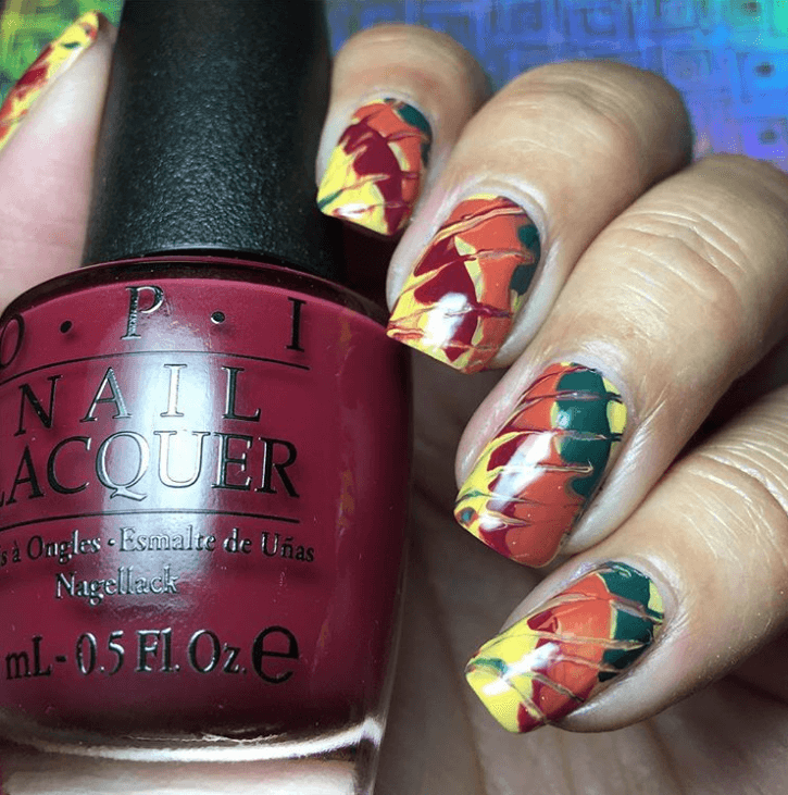 Totally Tie-Dye Nails art design