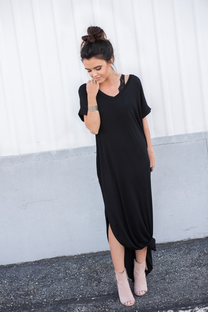 Casual Knotted Maxi Dress
