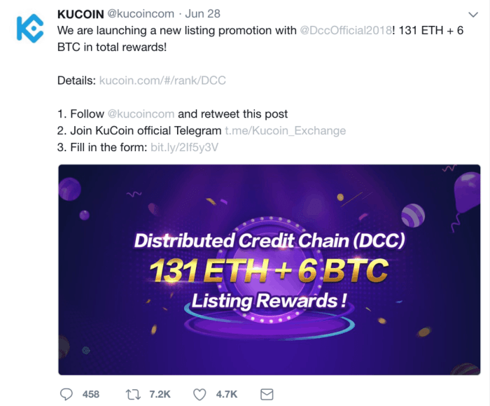 KuCoin promotions DDC