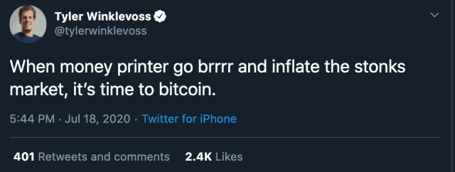 bijdrukken geld is goed voor bitcoin