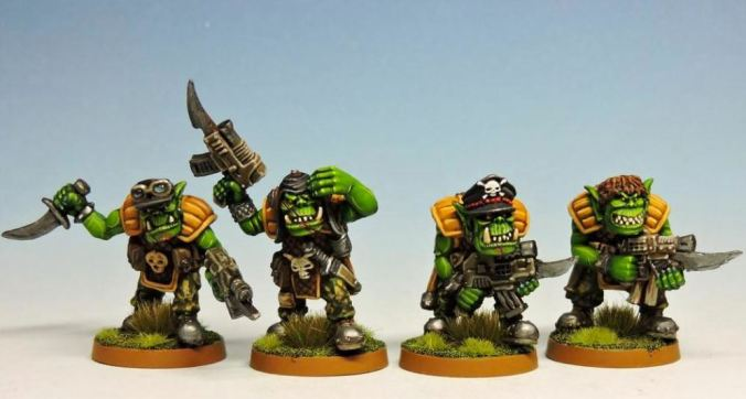 orc ork miniatures rogue trader citadel games workshop goblin greenskin freebooterz mini miniatures painted