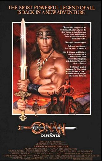 conan the destroyer movie poster conan movie conan movies arnold schwarzenegger review reviews video essay