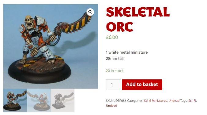 ork orc skeletal skeleton mini miniature diehard tim prow painted gw games workshop orktober