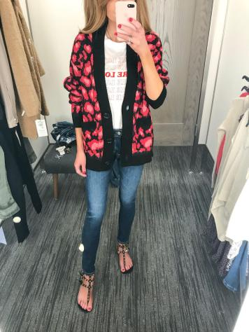 So much yes to this Topshop leopard cardi. I had this last year in green and blue and wore it nonstop. These are AG jeans- a bit higher waisted and perfectly skinny.