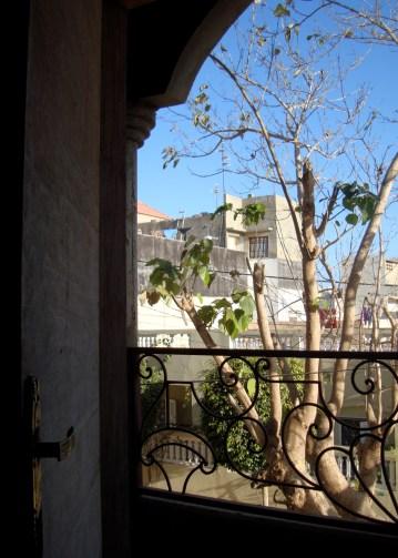 View from my bedroom terrace in Dakar, Senegal