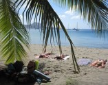Laying on the beach in Dominica (2)