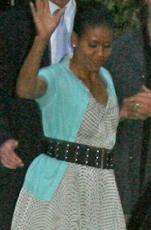 First Lady? Where does she shop? Goodwill? She looks like a cleaning woman.