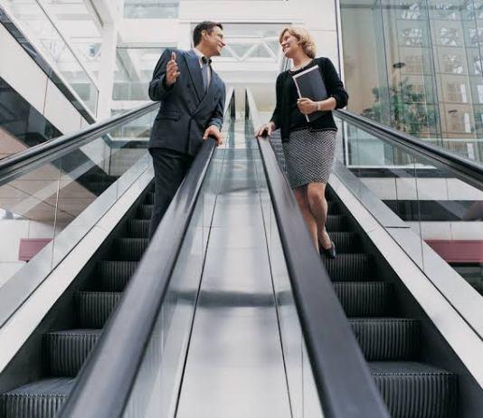 Handrail escalator