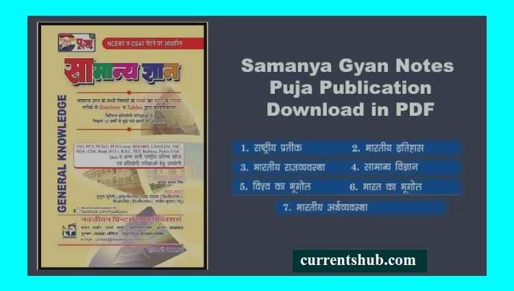 Download कीजिये Puja General Knowledge का E-book