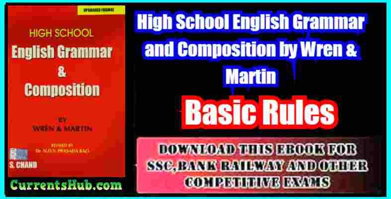 High School English Grammar and Composition by Wren & Martin pdf
