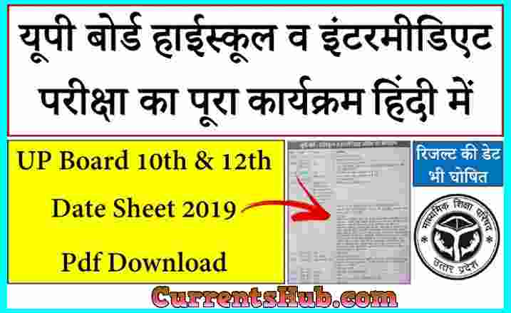 UP Board Syllabus 2019-20 Class 10 & 12 free Download