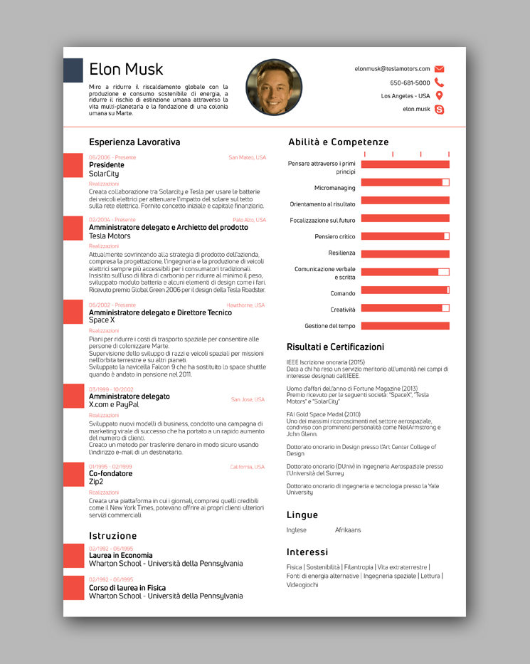 Cv Elon Musk Word All New Resume Examples Resume Template