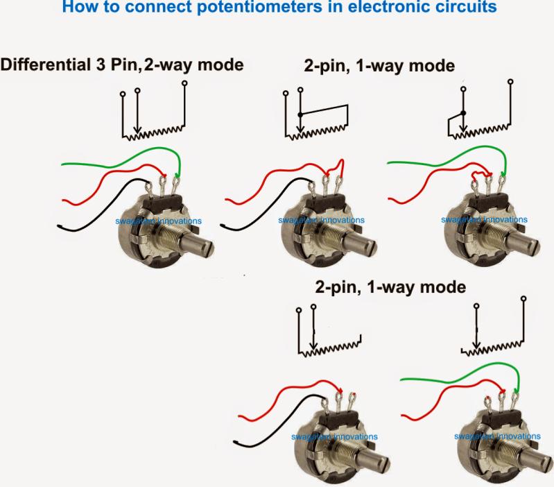 potentiometer wiring audio
