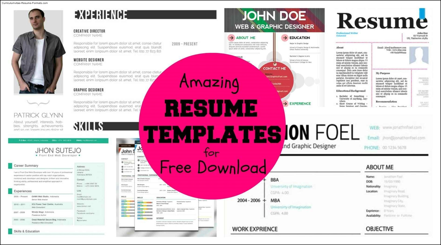 Free Resume Templates 2016 Free Cool Resume Templates Word Free Samples Examples