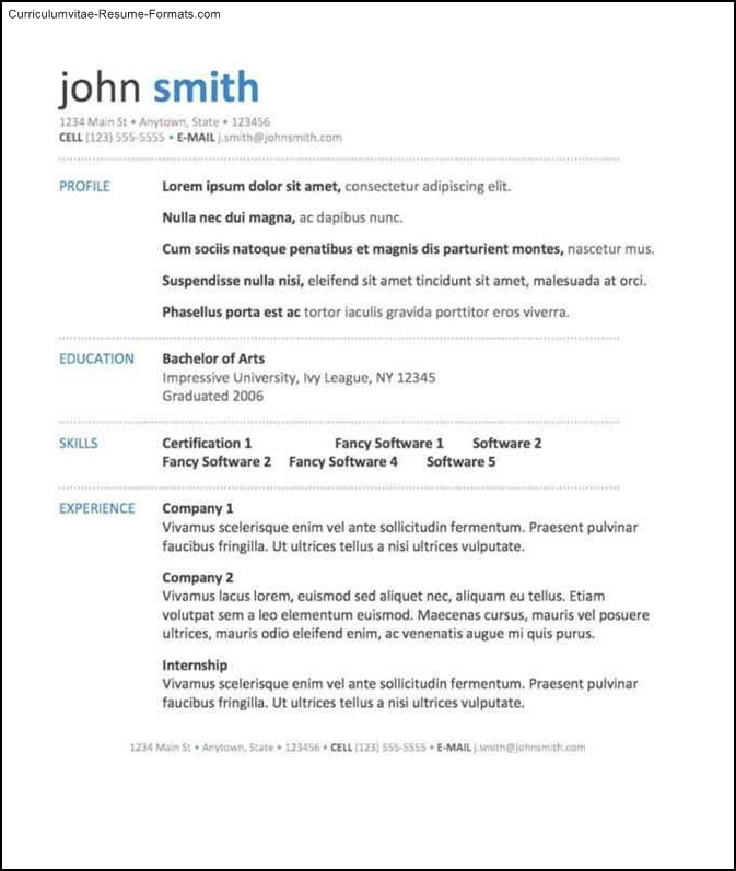 Impressive Resume Templates  Free Samples , Examples
