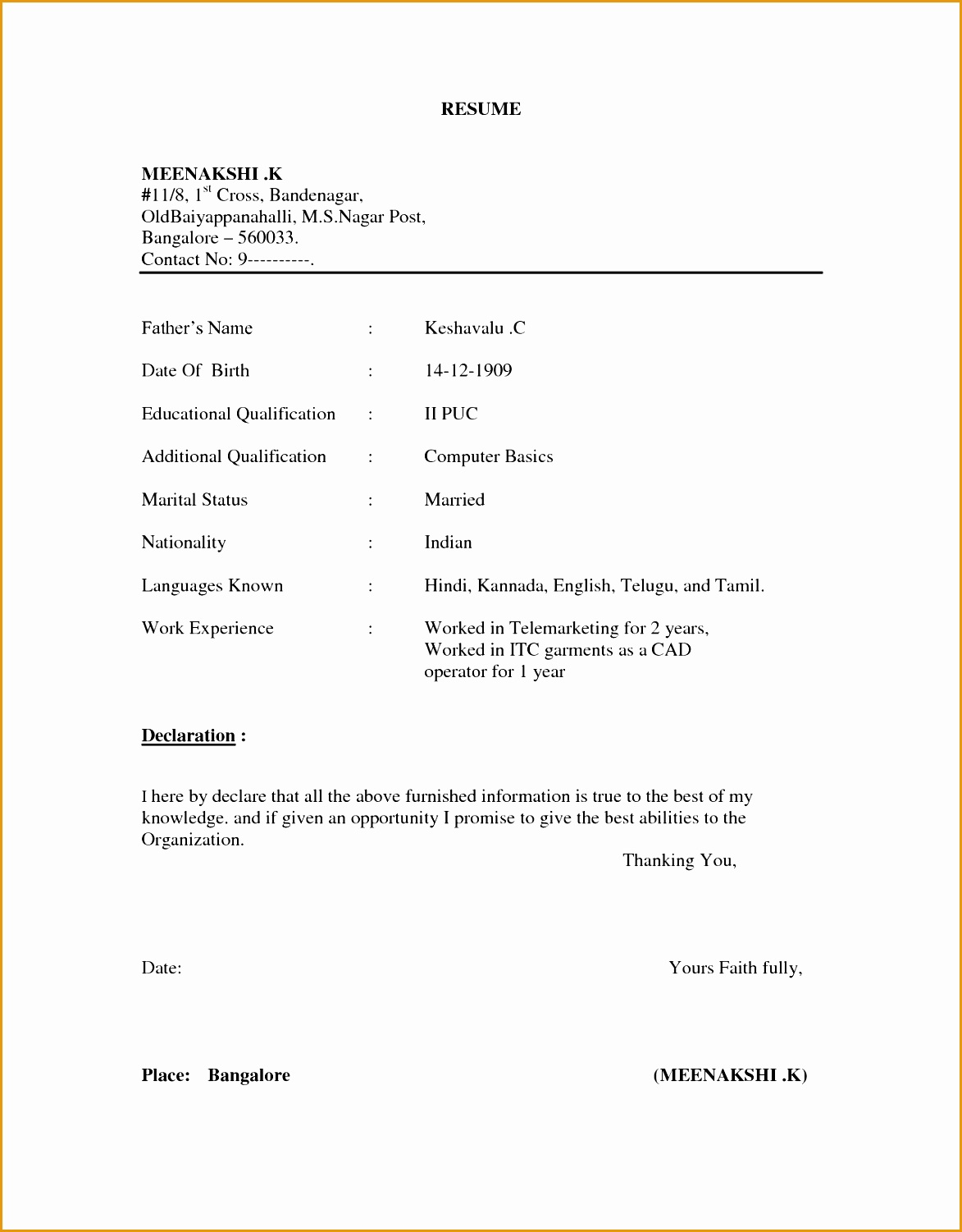 Sample Mba Resume Doc 5 Latest Cv Templates Doc Free Samples Examples