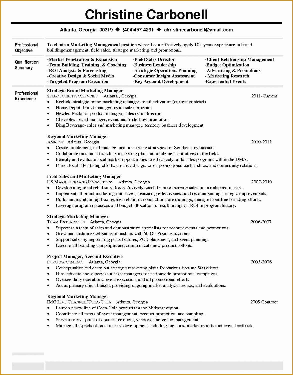 Inventory Manager Resume Objectives 7 Marketing Manager Resume Objective Free Samples
