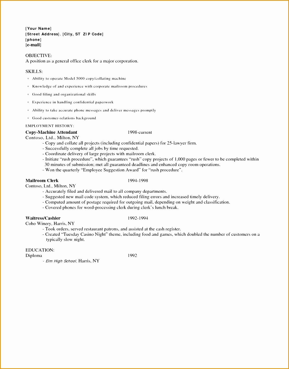 Restaurant Bar Manager Resume Examples 9 Restaurant Resume Examples Free Samples Examples