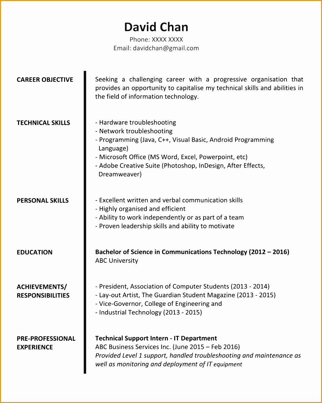 How To Upload Resume In Jobstreet 7 Resume Sample For Fresh Graduate Free Samples