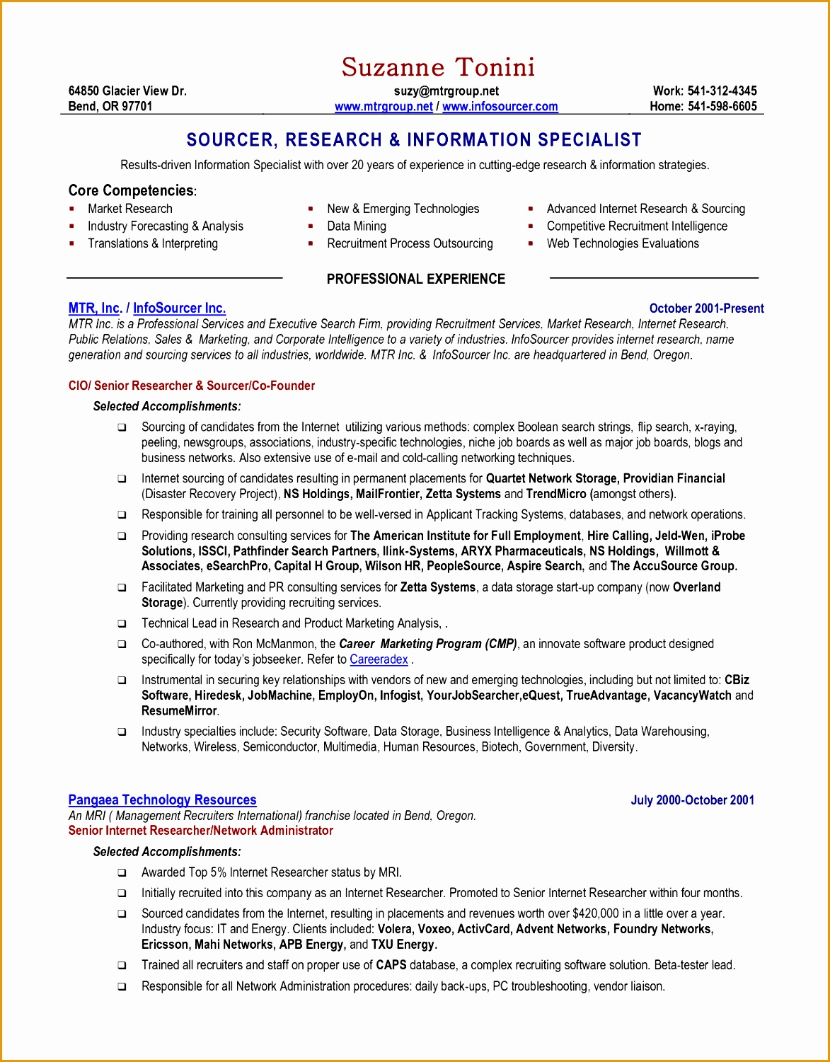 How To Write A Chronological Resume 8 An Effective Chronological Resume Sample Free Samples