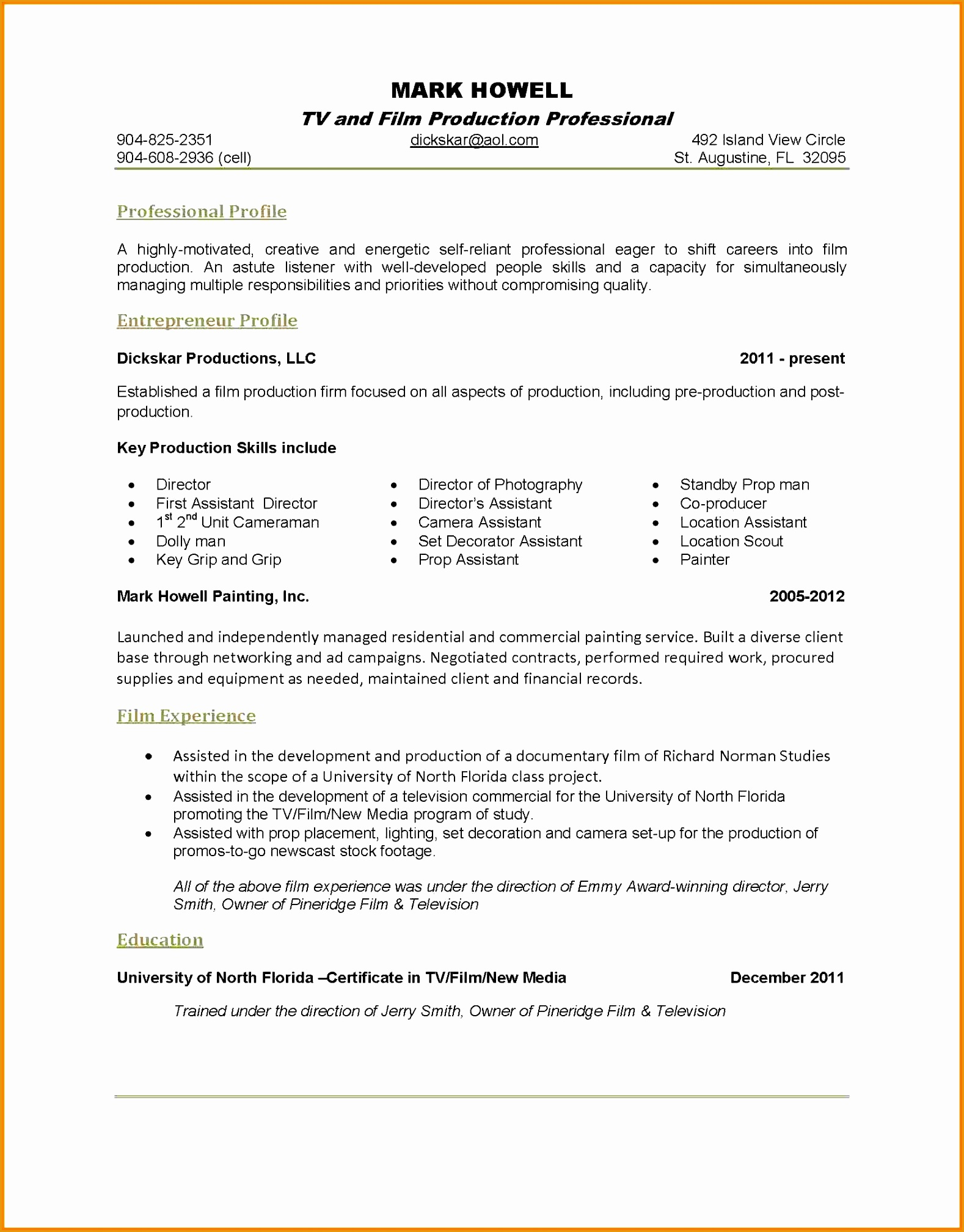 Key Qualifications In A Resume 7 Correspondent Resume Example Free Samples Examples