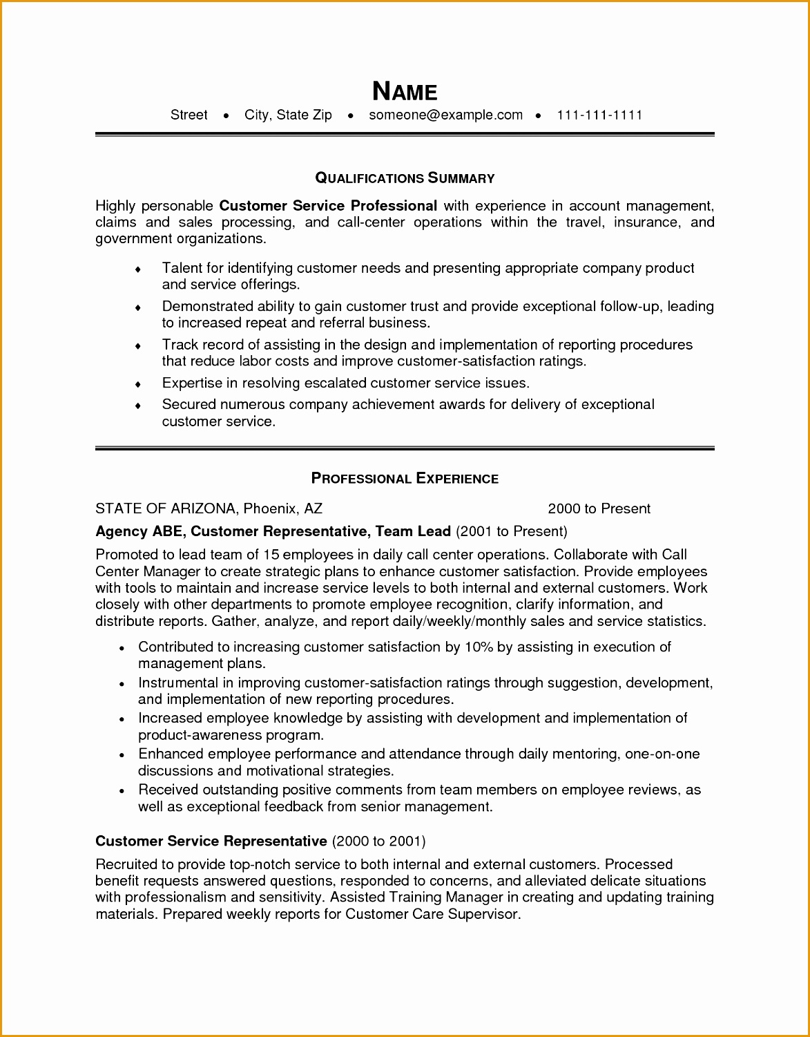 Customer Service Resume Objective Examples 9 Professional Acting Resume Free Samples Examples