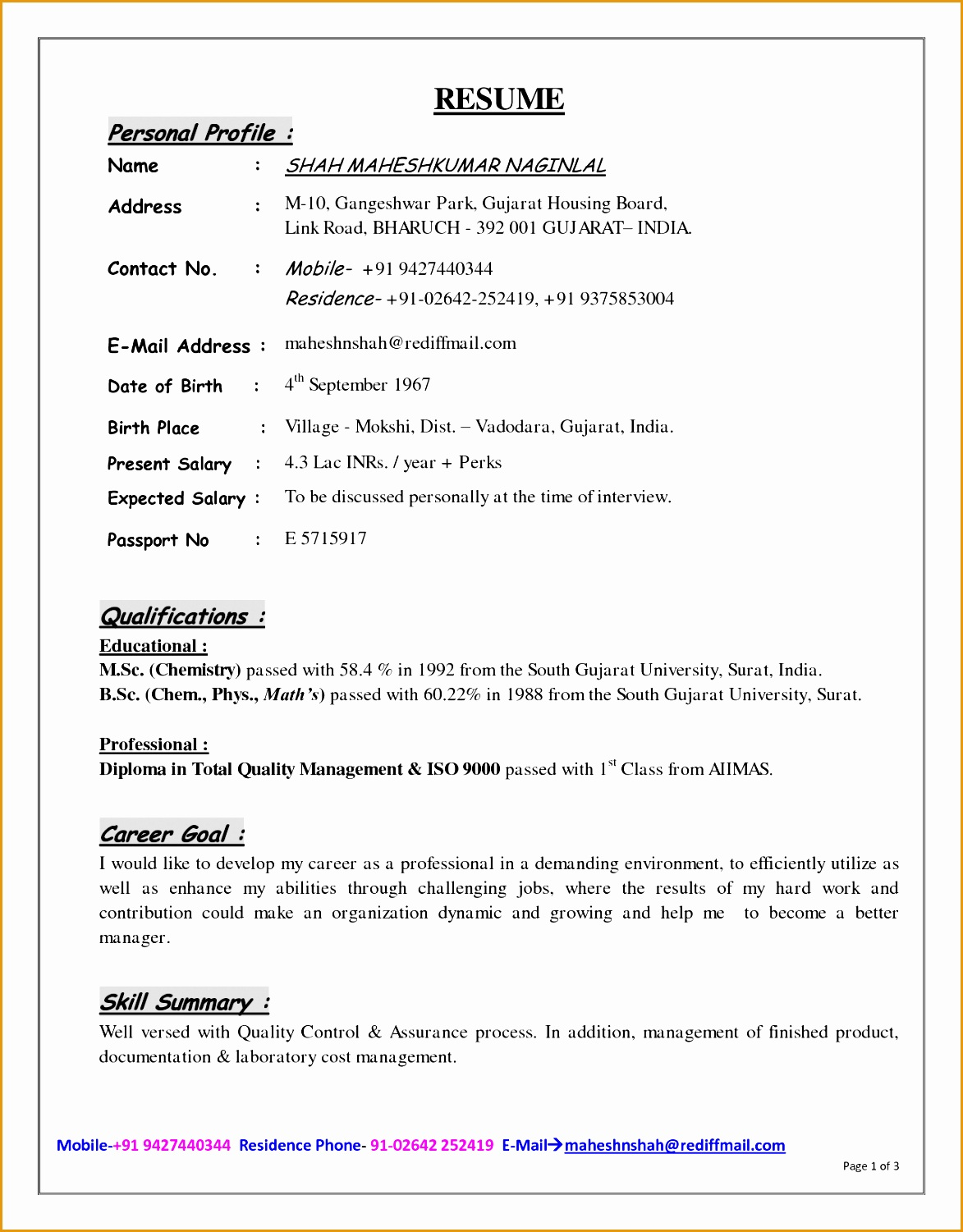 How To Write A Detailed Resume 6 Resume For High School Student With No Work Experience