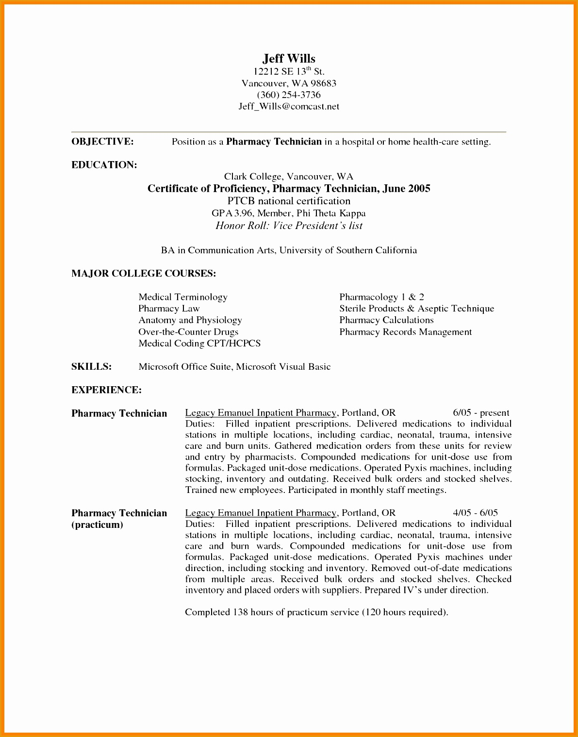 Pharmacist Resume Template 7 Retail Pharmacist Resume Sample Free Samples