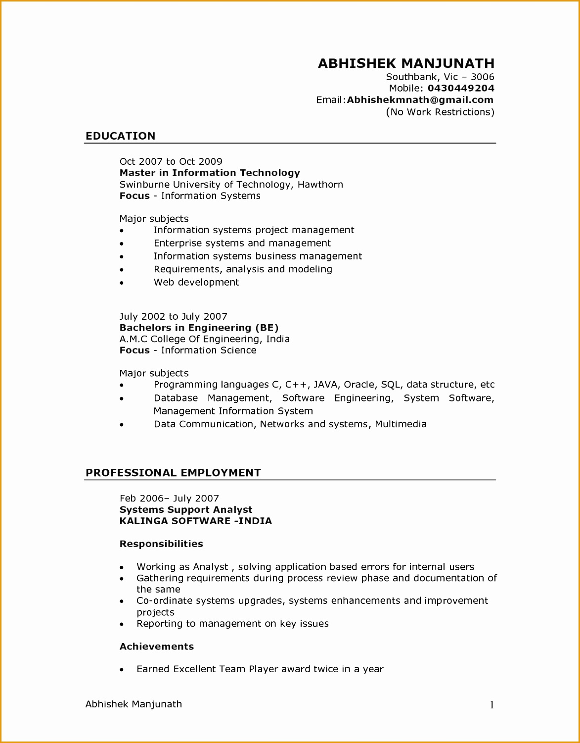 Professional Resume Sample Word Format 9 Sample Nursing Curriculum Vitae Templates Free Samples