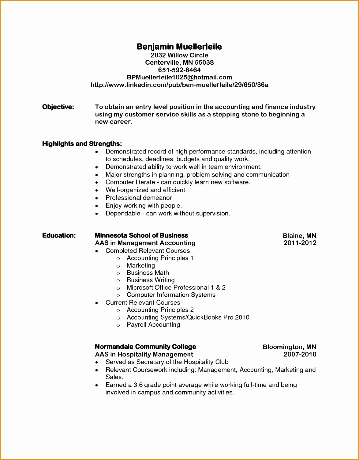 Accounting Internship Resume Sample 4 Simple Cover Letter For Resume Free Samples Examples