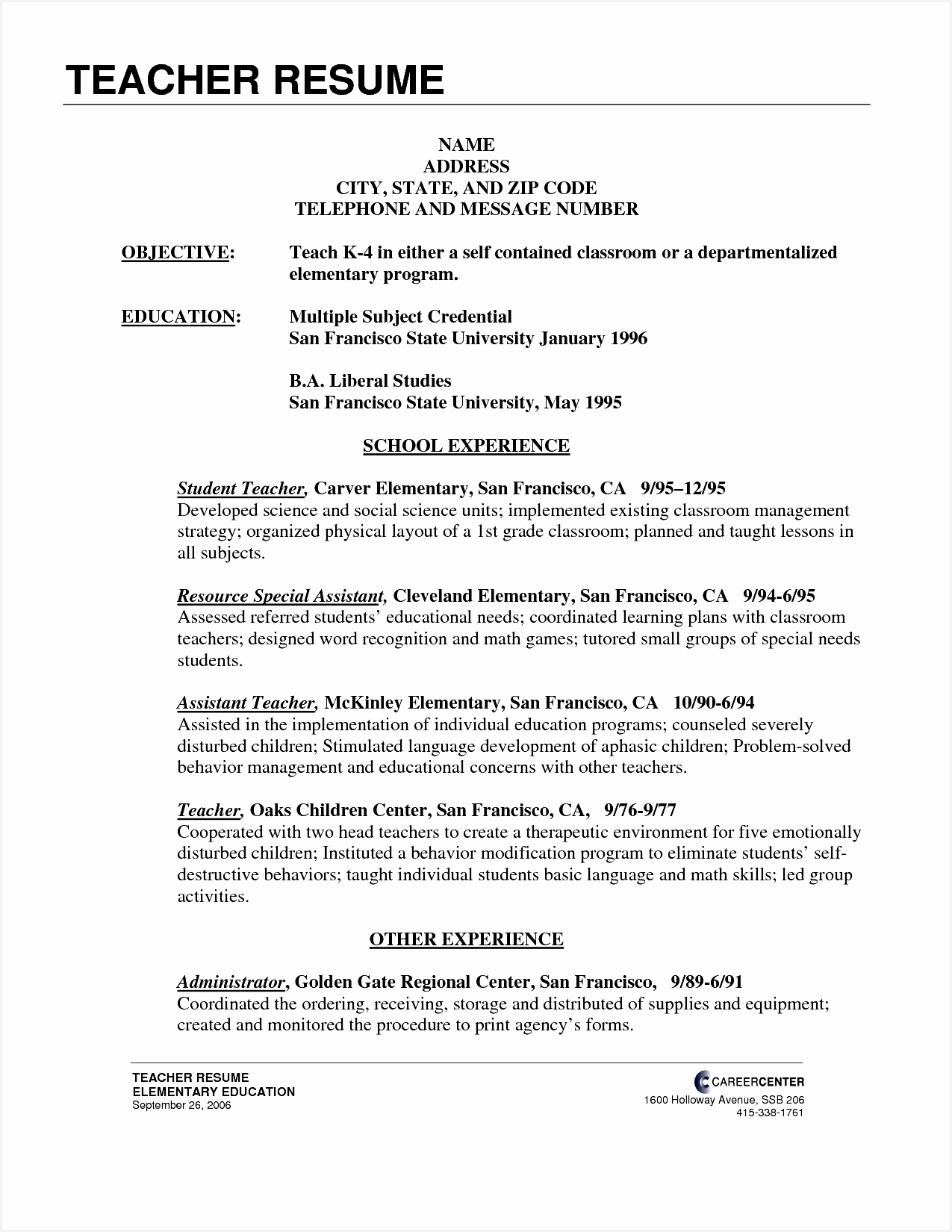 Choreographer Resume 7 Teaching Cv Template Nz Free Samples Examples