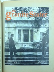 Cover of the Granite Stater magazine from 1959 featuring the original main entrance of the building.